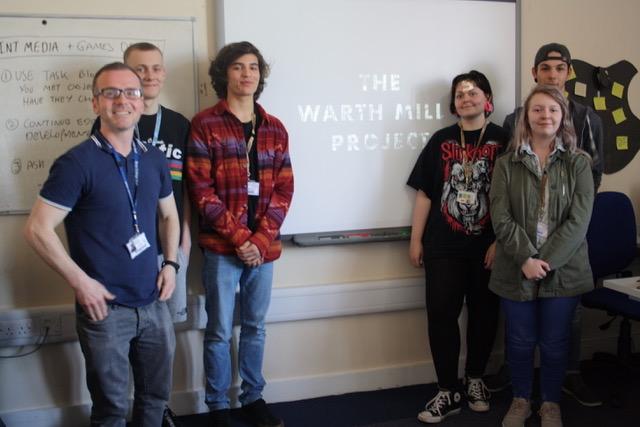 Bury College art students