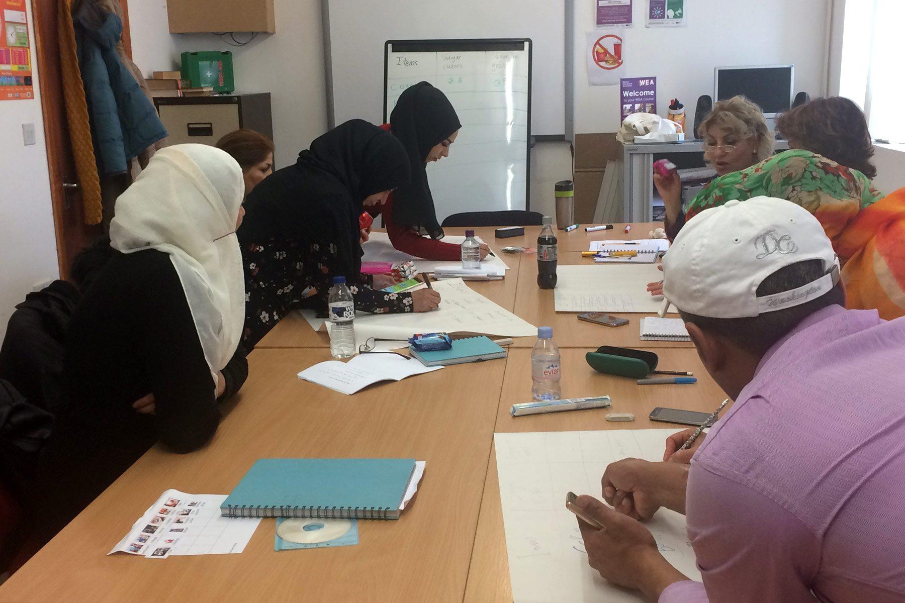 WEA refugee writers workshop.
