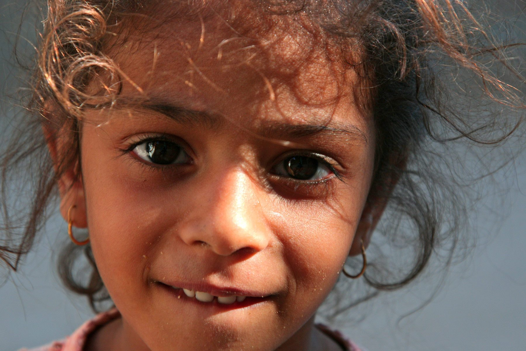 Face of young Egyptian girl. Credit: Richard Messenger on Flickr.